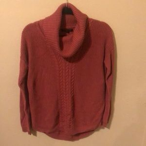 Banana Republic pink cable knit sweater.